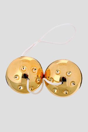 Palline con Sfera Interna Duo Balls 3,5cm Oro