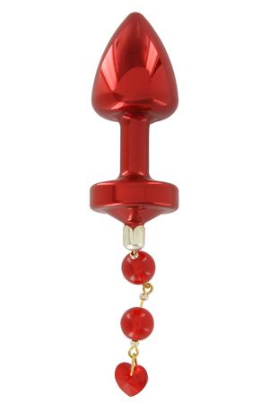 Plug Anale con Gioiello Ani Torrent 2,5cm Rosso