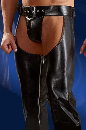 Pantalone Chaps con String Nero 2