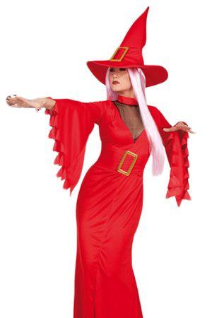 Costume Sexy da Strega Rosso
