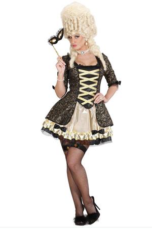 Costume Sexy Regina Barocca Nera