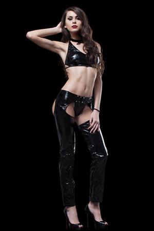 Pantalone Chaps + Top Nero Selene